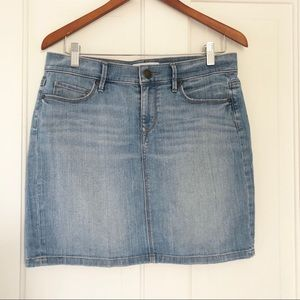 Ann Taylor LOFT denim mini skirt
